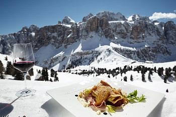 Alta Badia Ski Region Sellastock nourriture et boissons