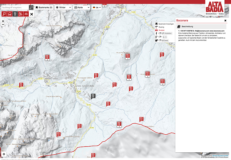 Alta Badia interactive map