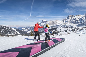 Ski school for Kids in La Villa Alta Badia