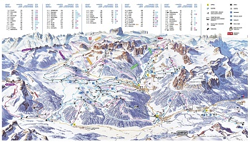 Slopes' map Alta Badia