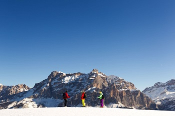 Ski tour with a wonderful view of the Dolomites