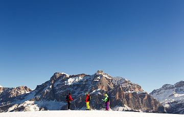 Ski tour with majestic panorama of the Dolomites