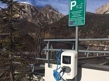 Electric car charging points Corvara