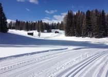 The cross-country skiing trails Armentara in La Val
