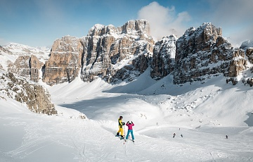 The skiing area in and around Alta Badia