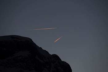 Airplanes over the Dolomites Alta Badia