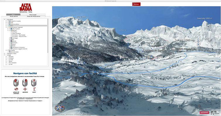 3D winter map