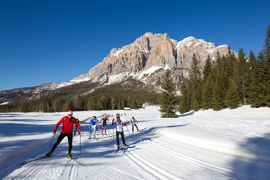Crosscountry skiing in South Tyrol