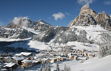 Corvara in winter Alta Badia Sassongher