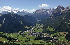 The unique central postion of La Villa in Alta Badia