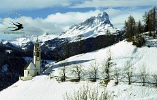 San Barbara's church in La Val